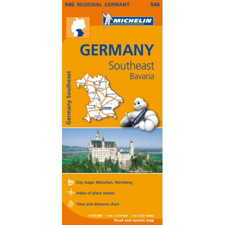 Bavaria Germany Saucer (Germany Southeast Bavaria Regional Map 546 (Michelin Regional Maps) (Map) )