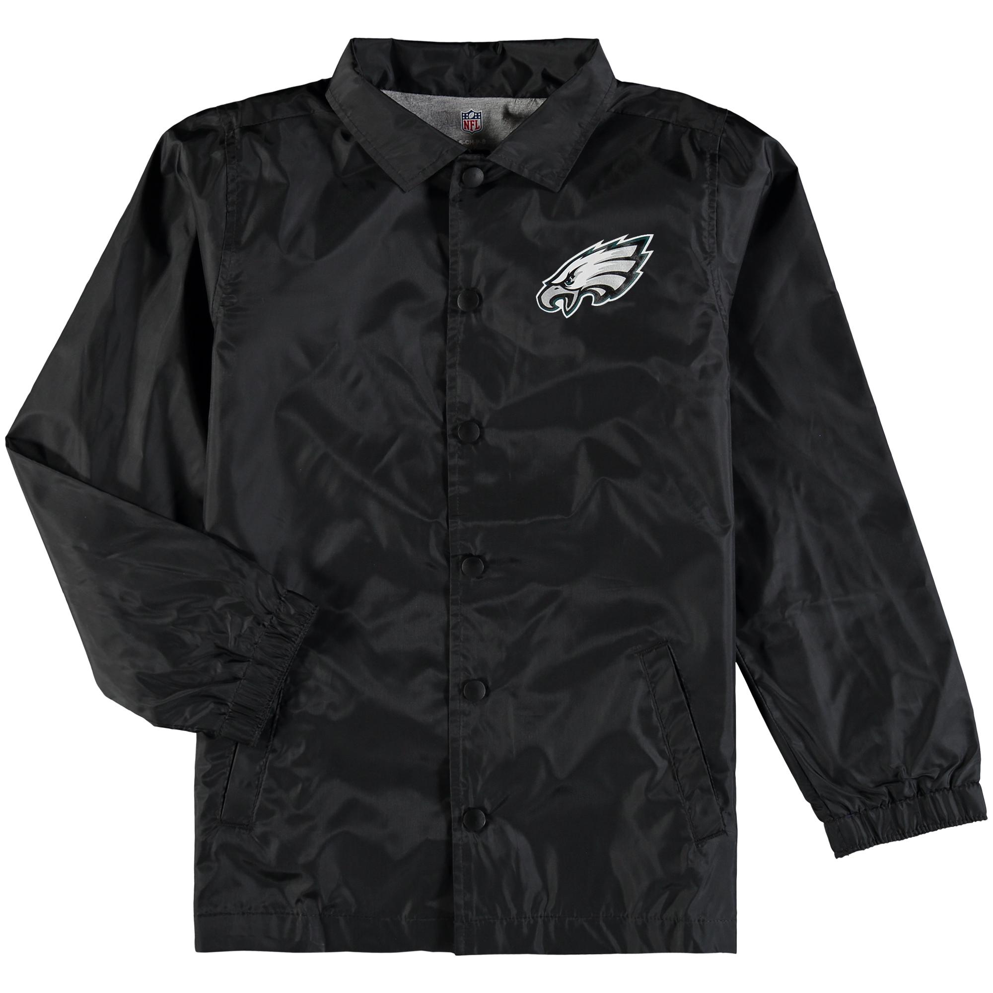 Philadelphia Eagles Youth Bravo Coach Jacket - Black