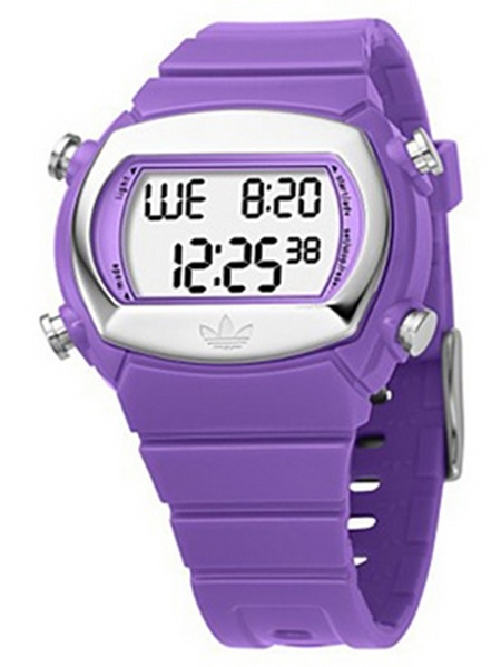 Adidas ADH6041 Candy Purple Rubber Bracelet with 44mm Digital Watch New In Box by Adidas