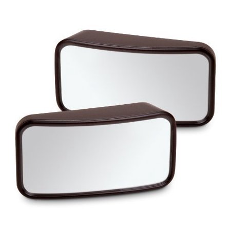(GF Pro Adjustable Blind Spot Convex Mirror For Autos/Cars/Trucks/SUV Attaches onto Existing Side Mirrors (Pack of 2))