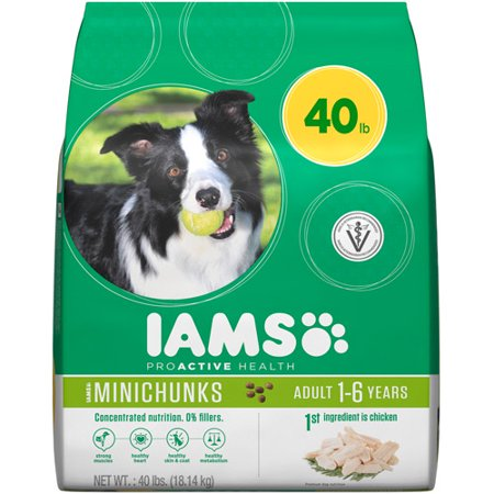 IAMS PROACTIVE HEALTH Adult MiniChunks Dry Dog Food 40 Pounds