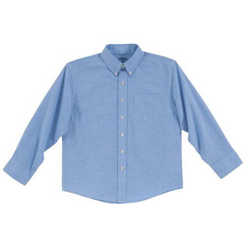 George Boys' Solid Oxford Husky Shirt, Chambray