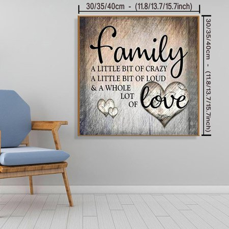 NK HOME Family Design DIY 5D Diamond Painting Full Drill Embroidery Cross Stitch Kit Home Decor Creative Stitch Designs