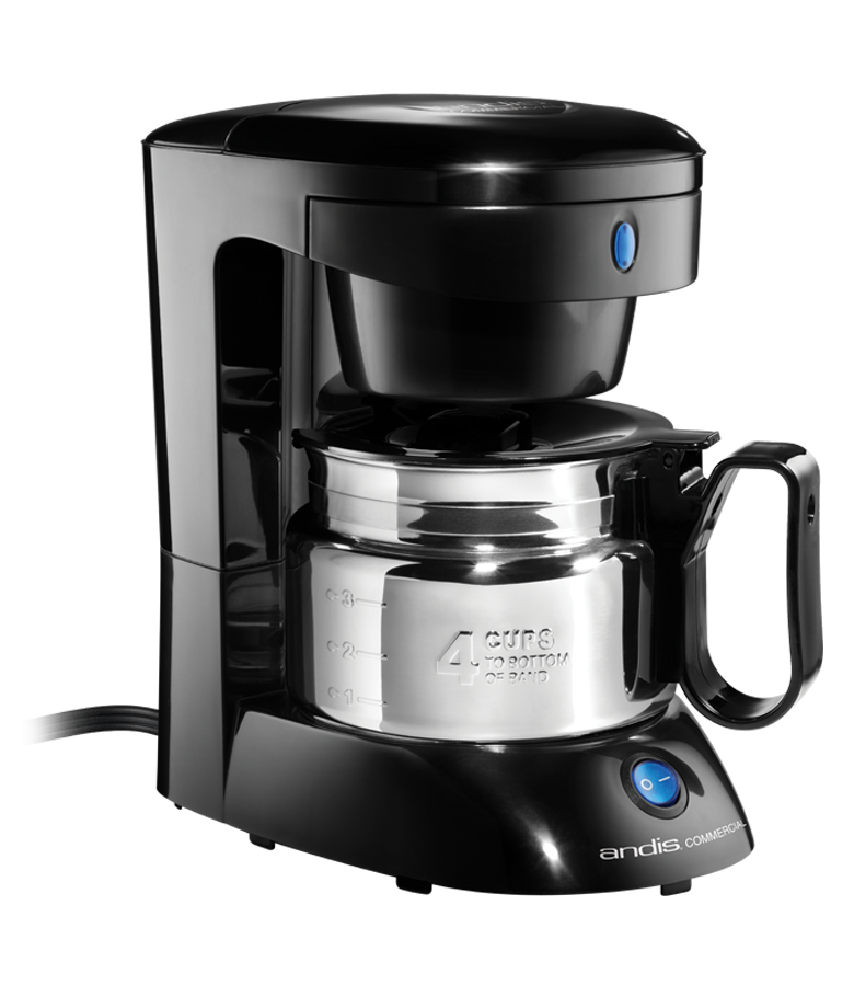 Andis 4-Cup Coffee Maker w Auto Shut-Off, Stainless Steel Carafe Black by Andis Company