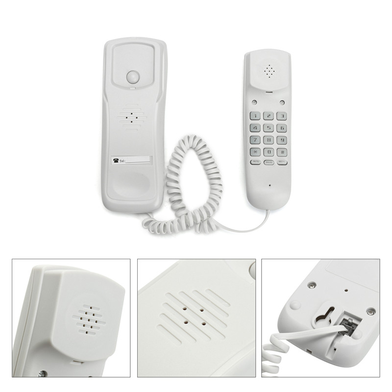 Telephone Land Line, Wall Mountable Home Corded Phone,  Business Office Desktop Phone