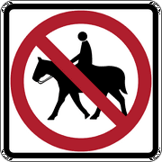 Traffic Signs - No horseback riding Heavy Duty 12 x 18 Peel-n-Stick Sign Street Weather Approved Sign