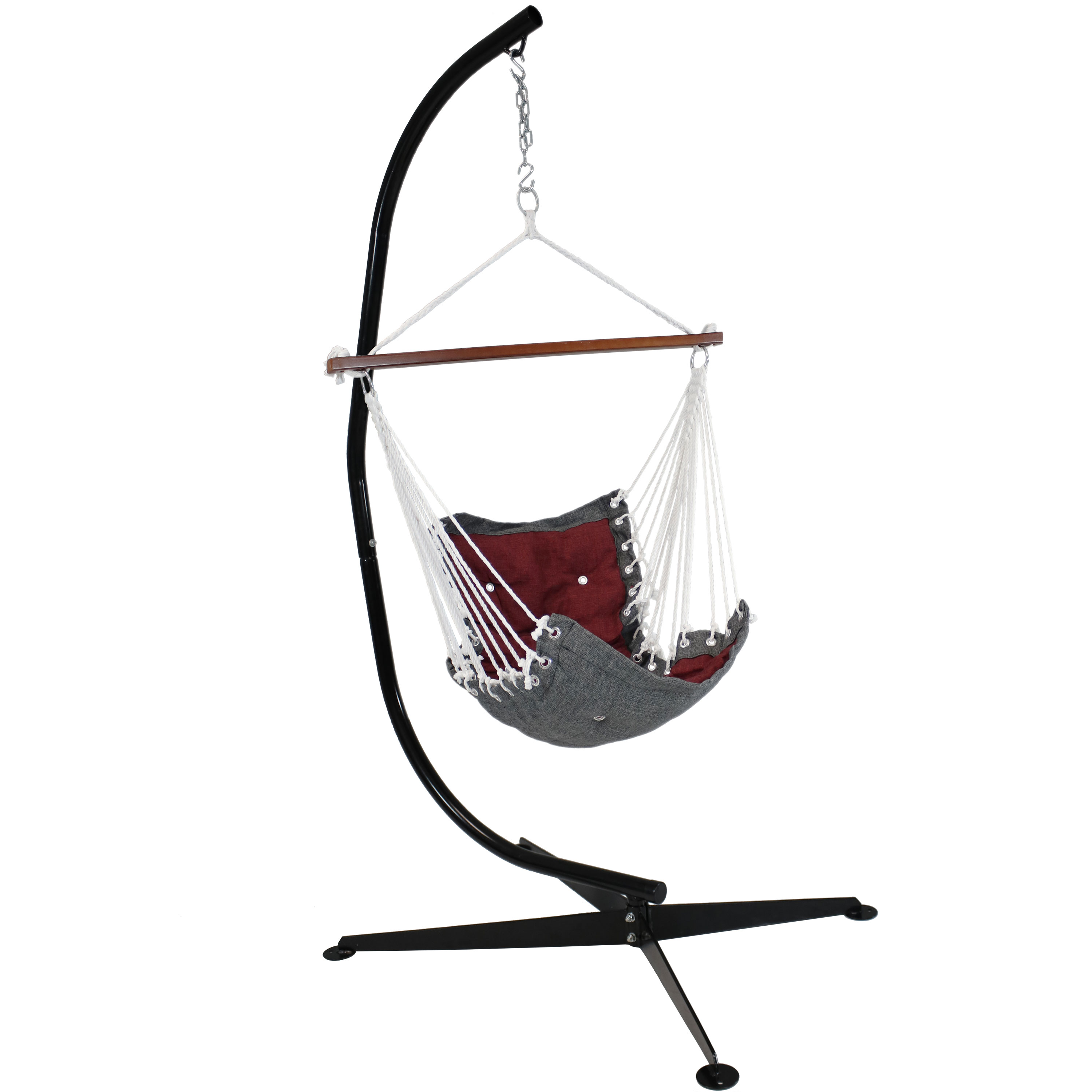 Tufted Victorian Hammock Swing with Stand- Multiple Colors