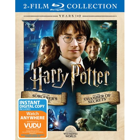 HP1 Sorcerer Stone / HP2 Chamber of Secrets (Blu-ray + Digital Copy) (With