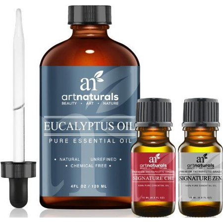 Essential Natural - Eucalyptus oil (4oz) - 100% pure unrefined natural essential oil aromatherapy
