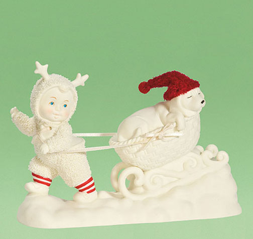 Department 56 Snowbabies Dog Sledding Retired 800377