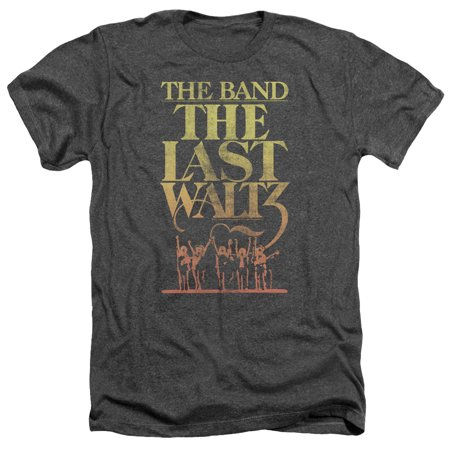 The Band/The Last Waltz Mens Heather Shirt (Charcoal, XX-Large)