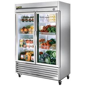 """Restaurant Kitchen Fridge true t-49g - 54"""" glass door reach in refrigerator - walmart"""