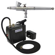 1/16oz Cup Gravity Airbrush Set & C16 Air Compressor Kit Dual-Action Hobby Cake