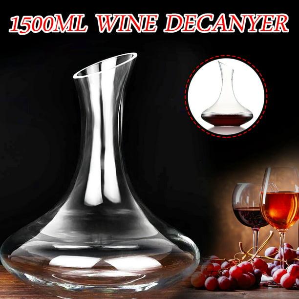 1500ml U Shape Lead-Free Crystal Glass Wine Carafe Crystal Wine Decanter NEW