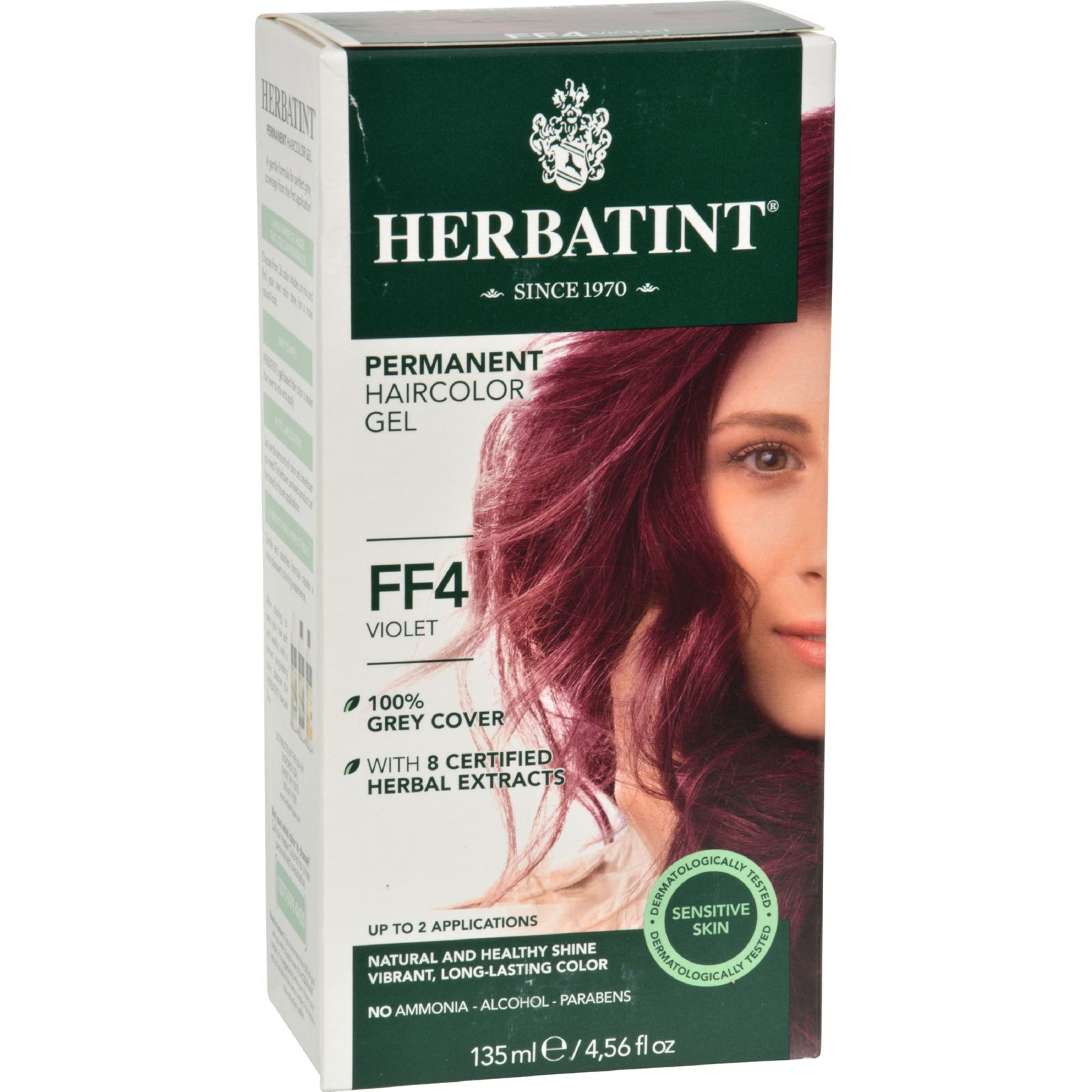 Bioforce Herbatint Flash Fashion Permanent Herbal Haircolor Gel, 4.56 oz