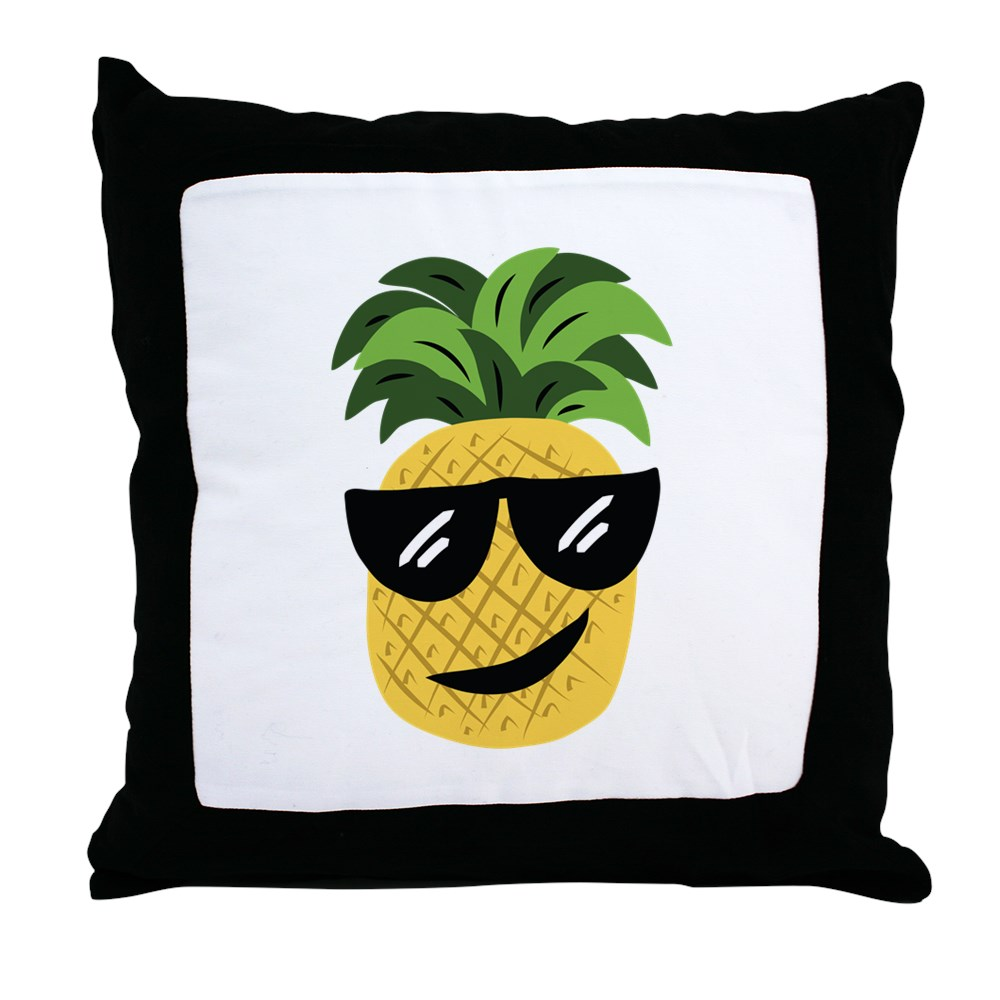 "CafePress Funky Pineapple Decor Throw Pillow (18""x18"") by"