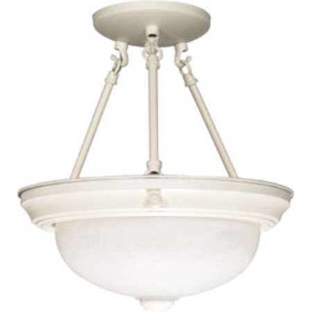 Replacement for 60/225 2 LIGHT 13 INCH SEMI FLUSH ALABASTER GLASS TEXTURED WHITE TRANSITIONAL