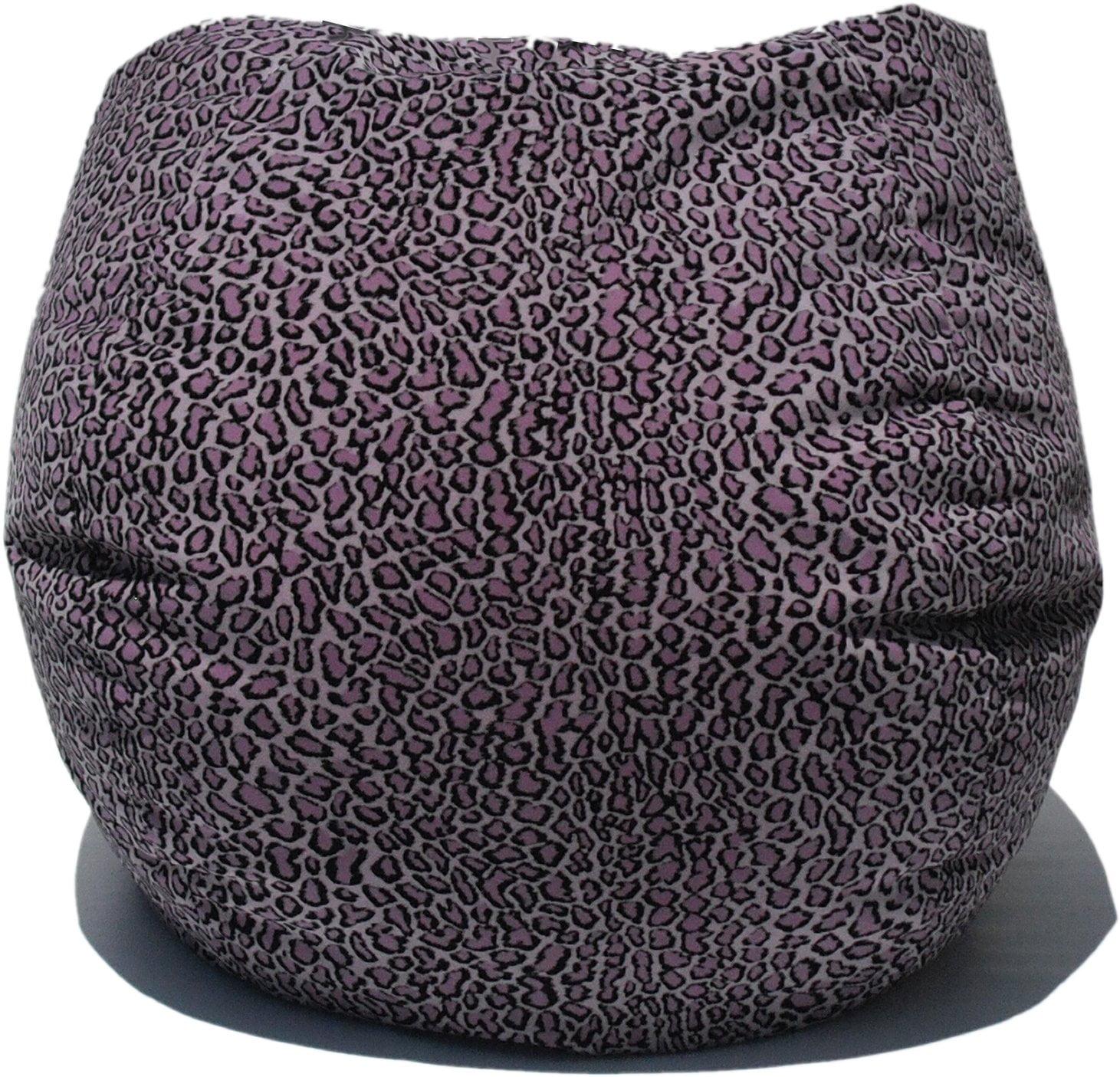 Bean Bag Boys Fabric Bean Bag Chair in Bobcat / Lilac
