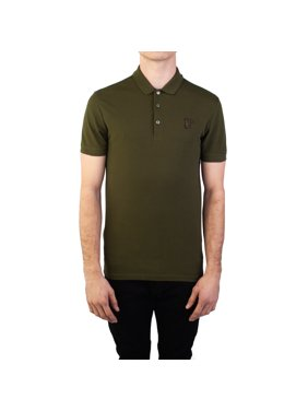 f3c3b87683f24 Product Image Versace Collection Men s Cotton Pique Medusa Polo Shirt  Miliary Green
