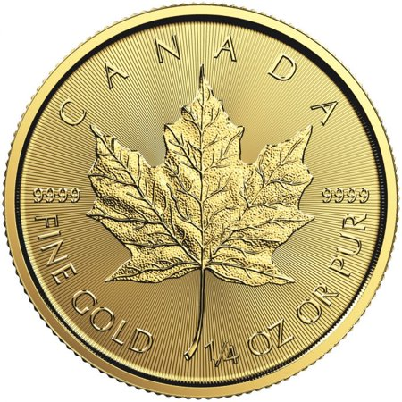 2018 Canadian Gold Maple Leaf 1/4 oz (Certified Gold Coin)
