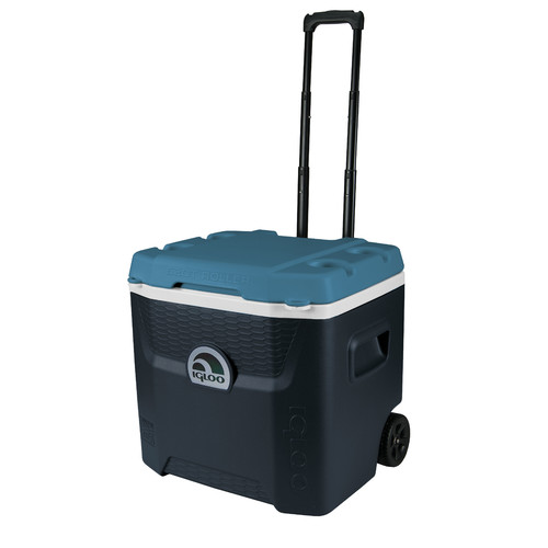 Igloo Quantum MaxCold Hard Sided Roller Cooler 52 qt. Black