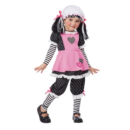 Toddler Rag Doll Costume by California Costumes 00136 (Toddler Rag Doll Costume)
