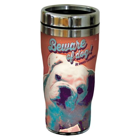 Tree Free Greetings 78185 Angi And Silas Beware Cuddles Sip N Go Stainless Lined Travel Mug  16 Ounce