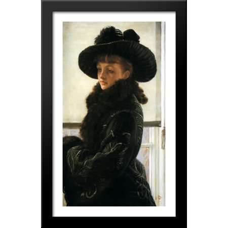 Mavourneen (Portrait of Kathleen Newton) 24x40 Large Black Wood Framed Print Art by James Tissot