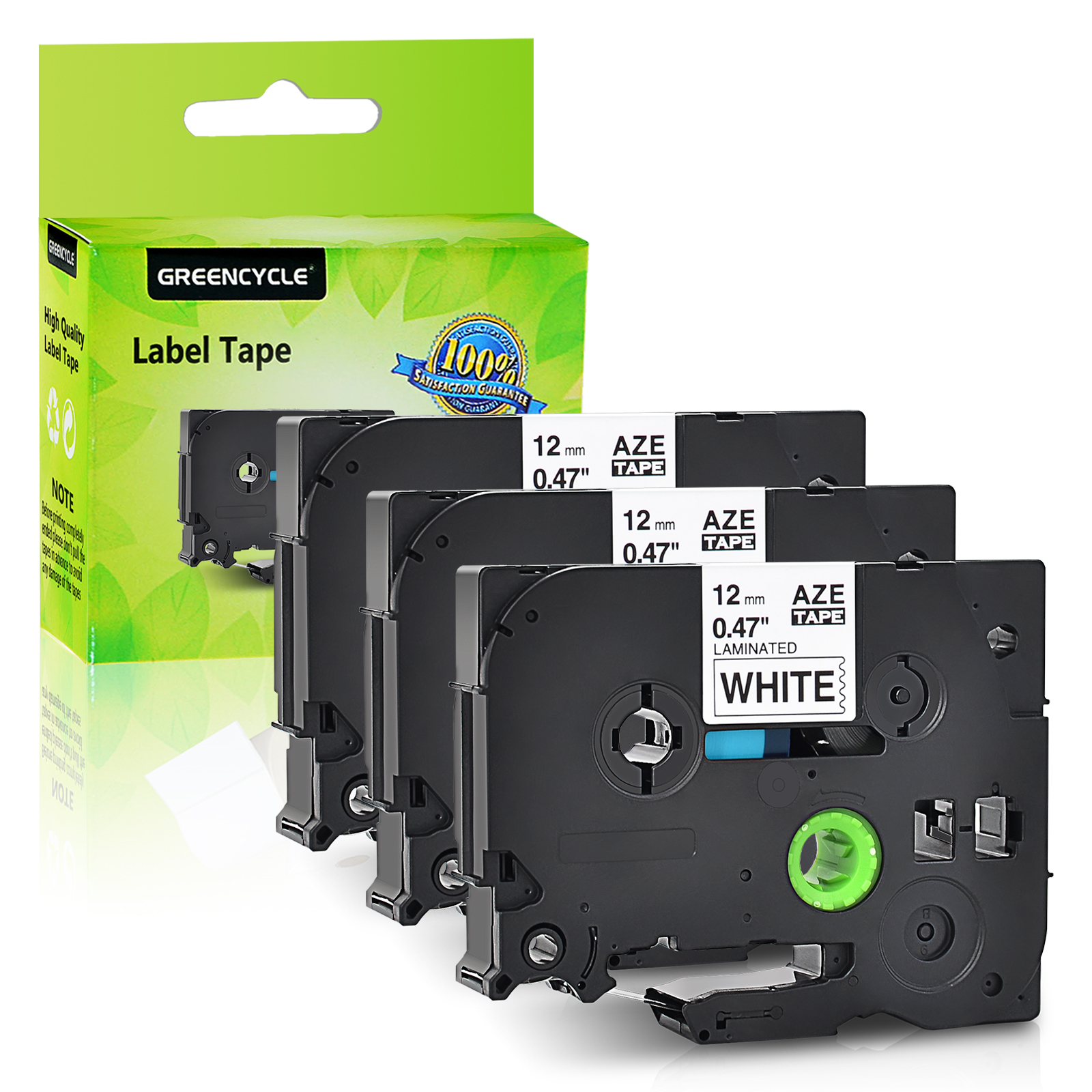 10 Pack TZ TZe FX231 Black on White Flexible Label Tape For Brother PT-2310 6100