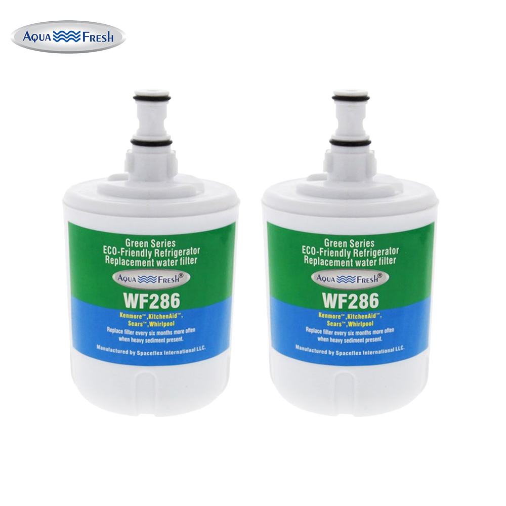 Replacement Water Filter For Whirlpool SS25AEXHW01 Refrigerator Water Filter by Aqua Fresh (2 Pack)