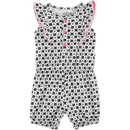 Ruffle Sleeve One Piece Romper, (Baby Girls)