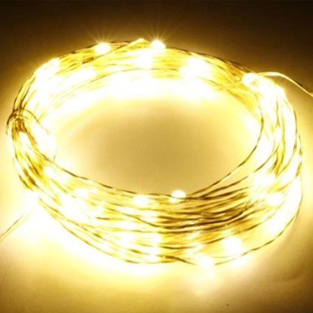 Perfect Holiday 20 LED Copper String Fairy Light w/ battery - - Flashing Yellow Light