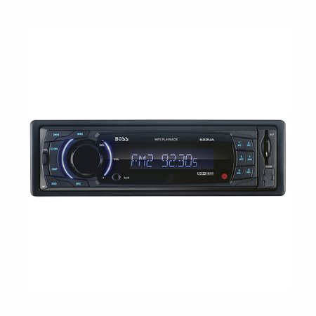 Boss Single-DIN In-Dash MP3-Compatible Digital Media Receiver with Front USB/AUX/SD Card