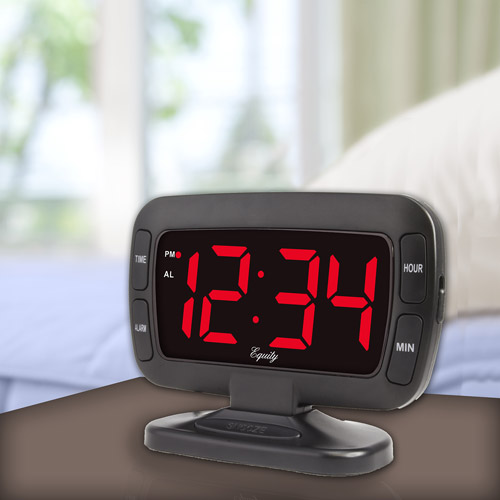 Equity Tilt LED Alarm Clock, Black by Equity