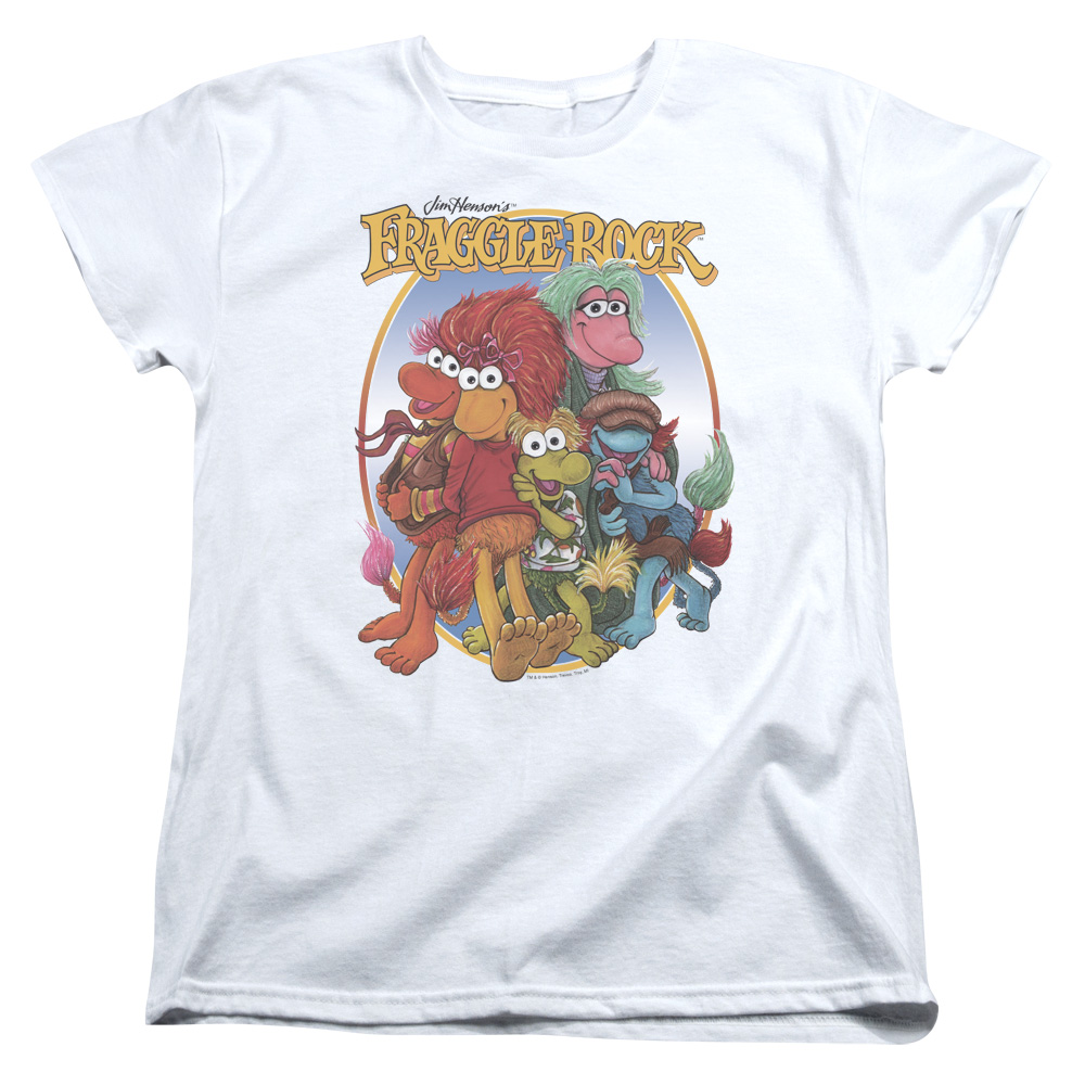 Fraggle Rock Group Hug Womens Short Sleeve Shirt