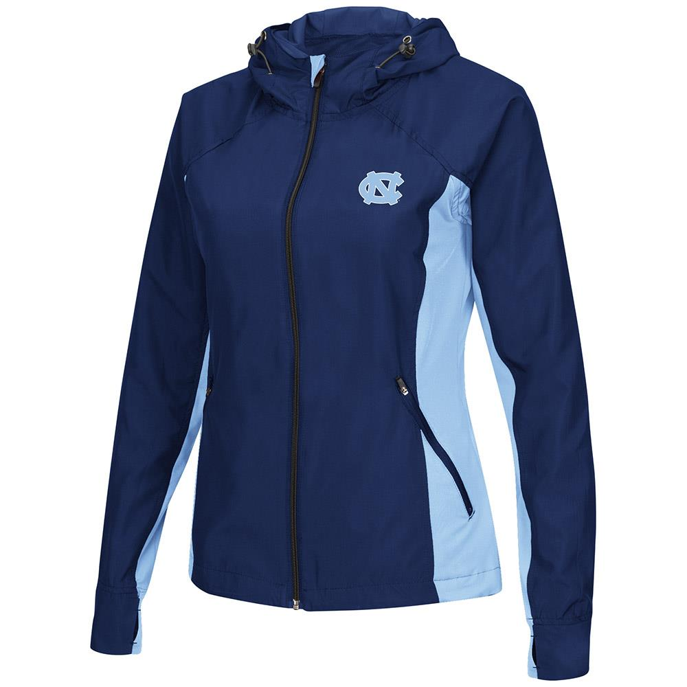 Womens UNC Tar Heels Step Out Windbreaker Jacket M by Colosseum