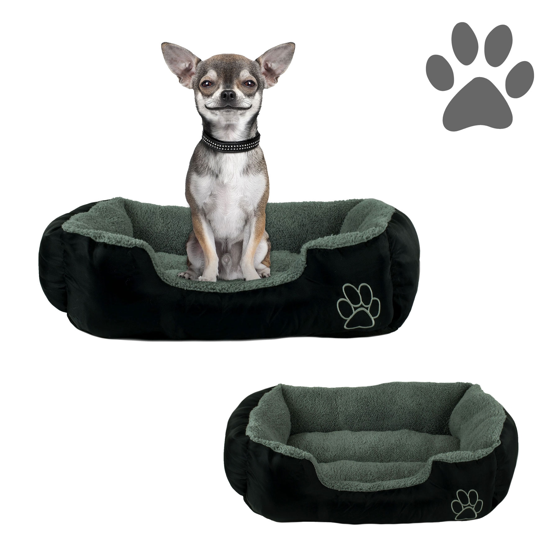 Small Dog Or Cat Pet Bed Rectangle Plush Cuddler 22 Quot X 18