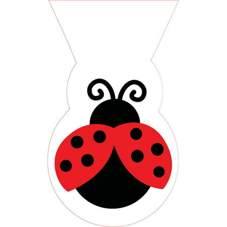 Ladybug Party Supplies (Access Ladybug Fancy Cello Shaped Bags, 12)