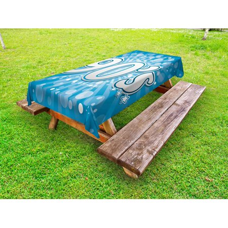 90s Outdoor Tablecloth,