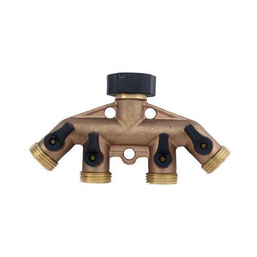 Fiskars Brands 44GT 4-Way Brass Manifold