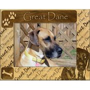 Giftworks Plus DBA0089 Great Dane - Not Cropped, Alder Wood Frame, 8 x 10 In