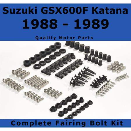 Complete Fairing Bolt Kit for Suzuki GSX600F Katana 600 1988 - 1989 body screws fasteners