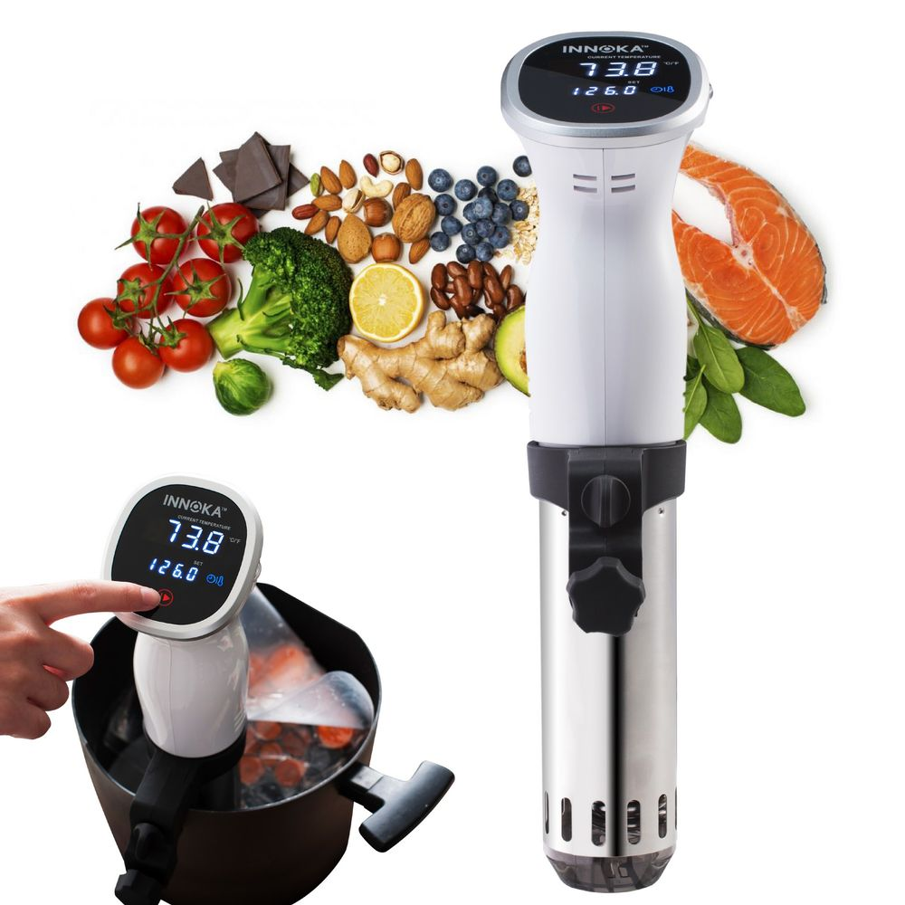 Sous Vide Circulation Precision Cooker by INNOKA, Temperature Control, Timer Function, Ultra-quiet, White