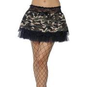Tutu Black & Camouflage Adult Costume Undercoat
