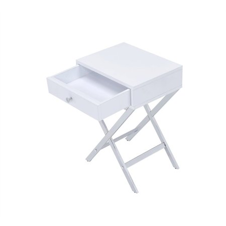 Acme Coleen Rectangular Side Table, Multiple Colors