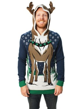 product image ugly christmas sweater mens hooded reindeer sweater - Christmas Sweaters Walmart