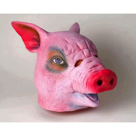Adult Deluxe Latex Animal Costume Mask - Pig