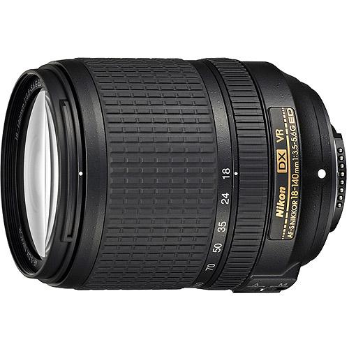 Nikon Nikkor AF-S DX 18-140mm f/3.5-5.6G ED VR Telephoto and Wide Angle Zoom Lens