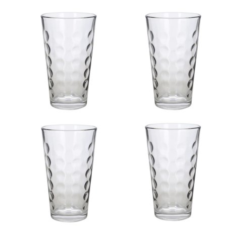 Polka Dot Drinking Glasses (Drinking Clear Glass Tumbler Set 438 ml Polka Dot)