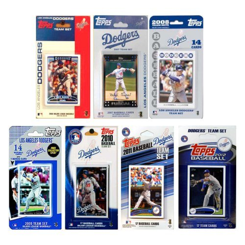 MLB Los Angeles Dodgers 7 Different Licensed Trading Card Team Sets